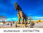 canakkale  turkey   october 07  ... | Shutterstock . vector #1037667796