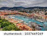 aerial view of port of nice | Shutterstock . vector #1037669269