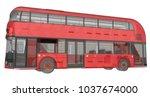 a double decker bus  a... | Shutterstock . vector #1037674000