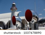 close up of pair of gleaming... | Shutterstock . vector #1037678890