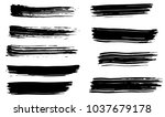 dry vector brush strokes | Shutterstock .eps vector #1037679178
