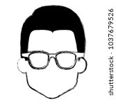 young man head with glasses... | Shutterstock .eps vector #1037679526