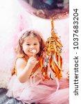 beautiful little girl...   Shutterstock . vector #1037683204