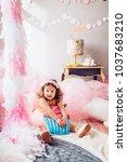 beautiful little girl...   Shutterstock . vector #1037683210