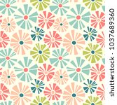 retro spring seamless pattern... | Shutterstock .eps vector #1037689360