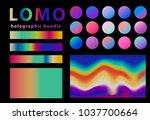 lomo  lomography style kit. ... | Shutterstock .eps vector #1037700664