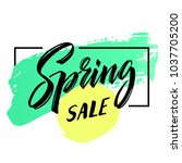 spring sale. special offer... | Shutterstock .eps vector #1037705200