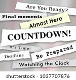countdown time almost here... | Shutterstock . vector #1037707876