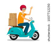 express delivery  fast shipment ... | Shutterstock .eps vector #1037712250