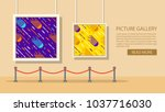 art museum of modern painting... | Shutterstock .eps vector #1037716030