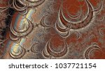 Brown Spiral Wave Fractal Swir...