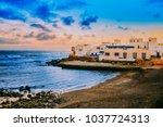 spanish view landscape in el...   Shutterstock . vector #1037724313