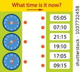 riddle the children clock. what ... | Shutterstock .eps vector #1037732458