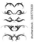 tribal tattoo set | Shutterstock .eps vector #103773320