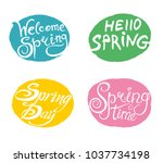 spring. four bright... | Shutterstock .eps vector #1037734198