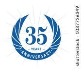35 years anniversary. elegant... | Shutterstock .eps vector #1037736349