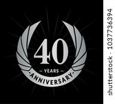 40 years anniversary. elegant... | Shutterstock .eps vector #1037736394