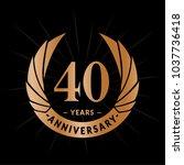 40 years anniversary. elegant... | Shutterstock .eps vector #1037736418