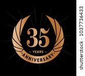 35 years anniversary. elegant...   Shutterstock .eps vector #1037736433