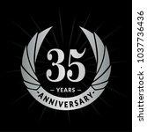 35 years anniversary. elegant...   Shutterstock .eps vector #1037736436