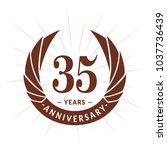 35 years anniversary. elegant...   Shutterstock .eps vector #1037736439