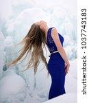 snow queen.  ice queen. | Shutterstock . vector #1037743183