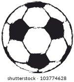 grungy soccer ball  football ...
