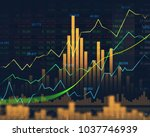 stock market or forex trading... | Shutterstock . vector #1037746939