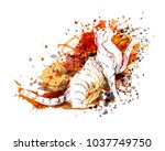 vector color illustration of a... | Shutterstock .eps vector #1037749750