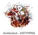 vector color illustration of a... | Shutterstock .eps vector #1037749906