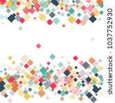 rhombus confetti minimal... | Shutterstock .eps vector #1037752930