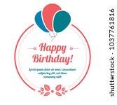 happy birthday vintage banner | Shutterstock .eps vector #1037761816