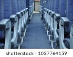 commercial aircraft interior... | Shutterstock . vector #1037764159