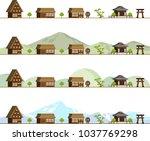 rural landscape in asia | Shutterstock .eps vector #1037769298