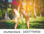prepare for jogging | Shutterstock . vector #1037770930