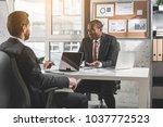 listen attentively.... | Shutterstock . vector #1037772523