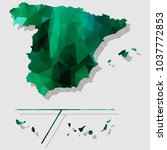 map spainprovinces map each... | Shutterstock .eps vector #1037772853