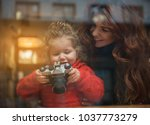 well done. curious girl is...   Shutterstock . vector #1037773279