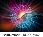 technology of numbers series.... | Shutterstock . vector #1037776969