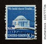 Usa   Circa 1975  Stamp Printed ...