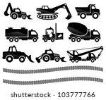 vector. transportation icons. | Shutterstock .eps vector #103777766