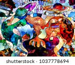 stained glass forever series.... | Shutterstock . vector #1037778694