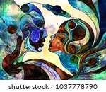 stained glass forever series.... | Shutterstock . vector #1037778790