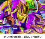 leaded glass pattern series.... | Shutterstock . vector #1037778850