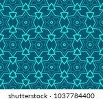 decorative wallpaper design in... | Shutterstock .eps vector #1037784400