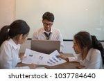 business people meeting... | Shutterstock . vector #1037784640