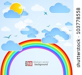 sky background with rainbow.... | Shutterstock .eps vector #103778558