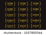movie award best feature film... | Shutterstock .eps vector #1037800366