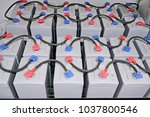 the top of pole gel battery is... | Shutterstock . vector #1037800546