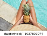 unrecognizable slim young woman ... | Shutterstock . vector #1037801074
